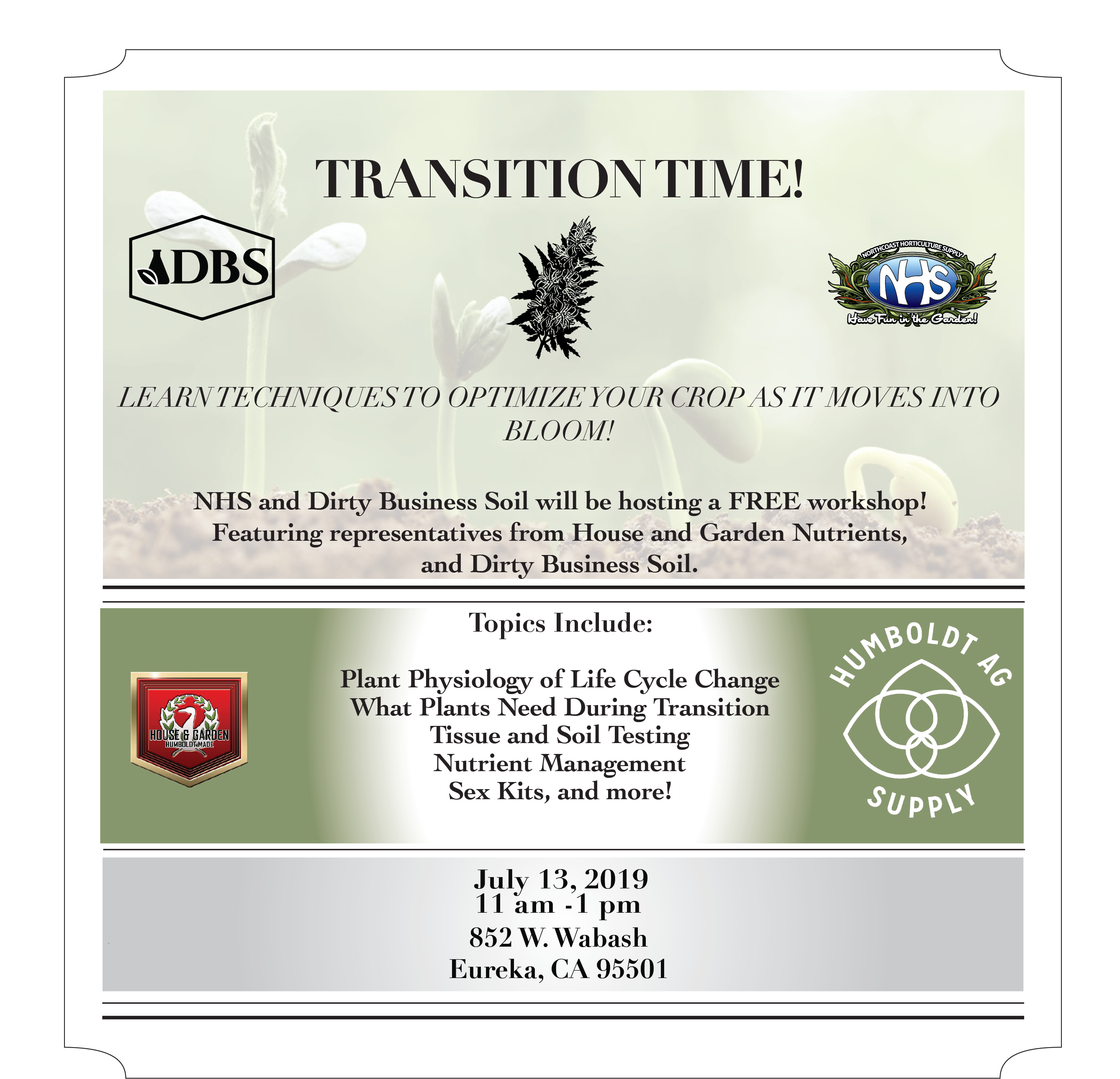Transition Time Free Workshop Flyer